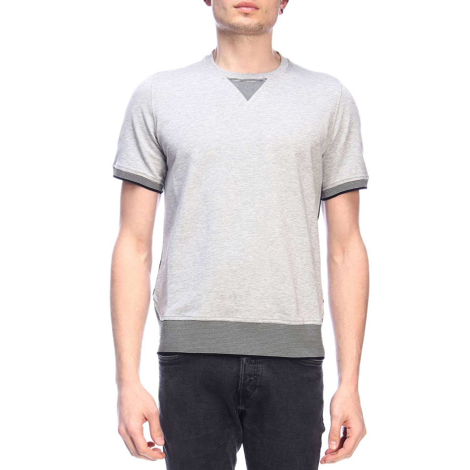 Pull homme Paolo Pecora gris 1