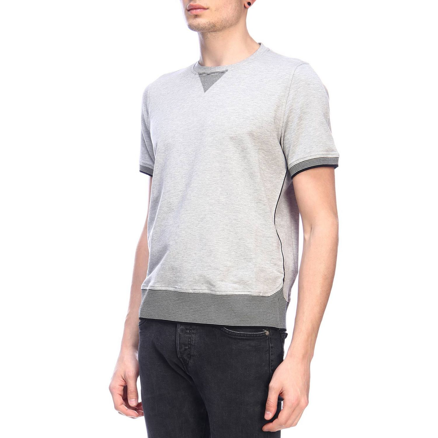 Pull homme Paolo Pecora gris 2