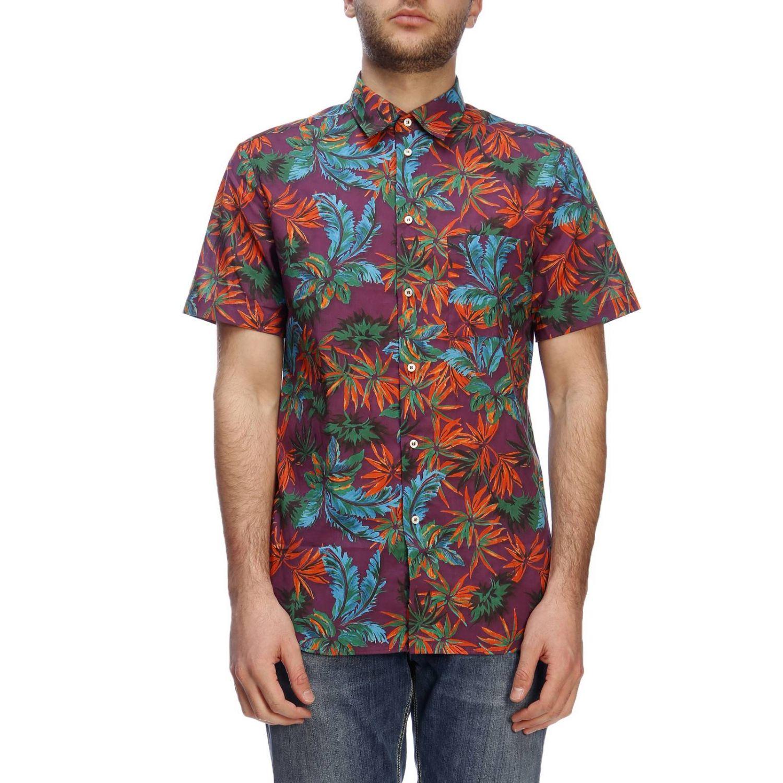 Shirt men Paolo Pecora burgundy 1