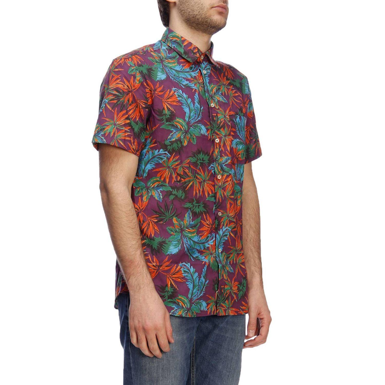 Shirt men Paolo Pecora burgundy 2