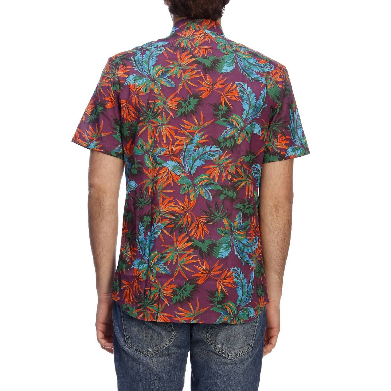Shirt men Paolo Pecora burgundy 3