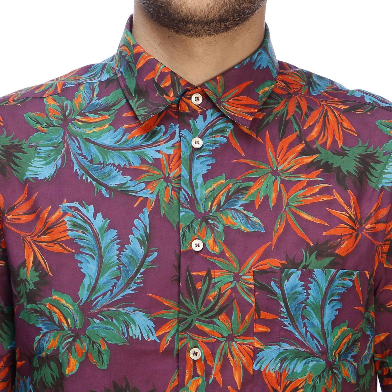 Shirt men Paolo Pecora burgundy 4