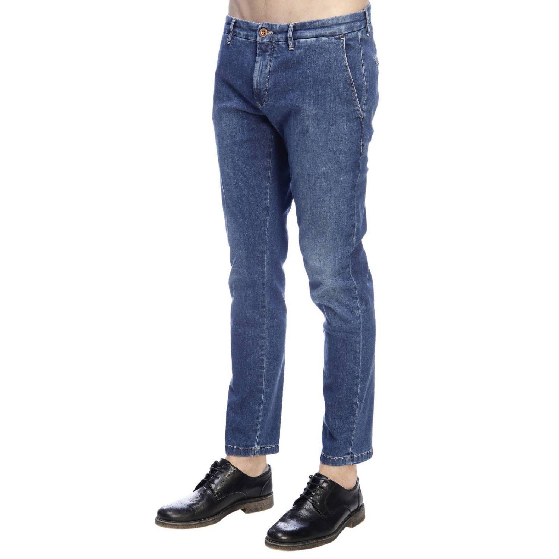 Jeans slim fit in denim stretch con fondo 17 e tasche america denim 2