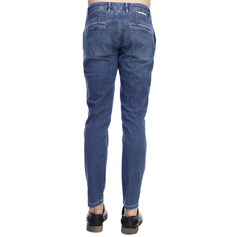 Jeans slim fit in denim stretch con fondo 17 e tasche america denim 3