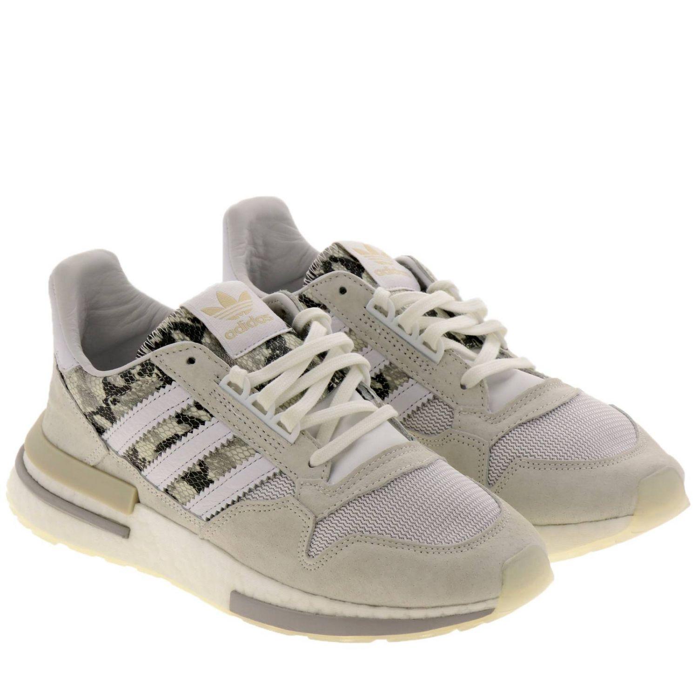 Sneakers Zx 500 rm Adidas Originals in tela micro rete e pelle con stampa pitone