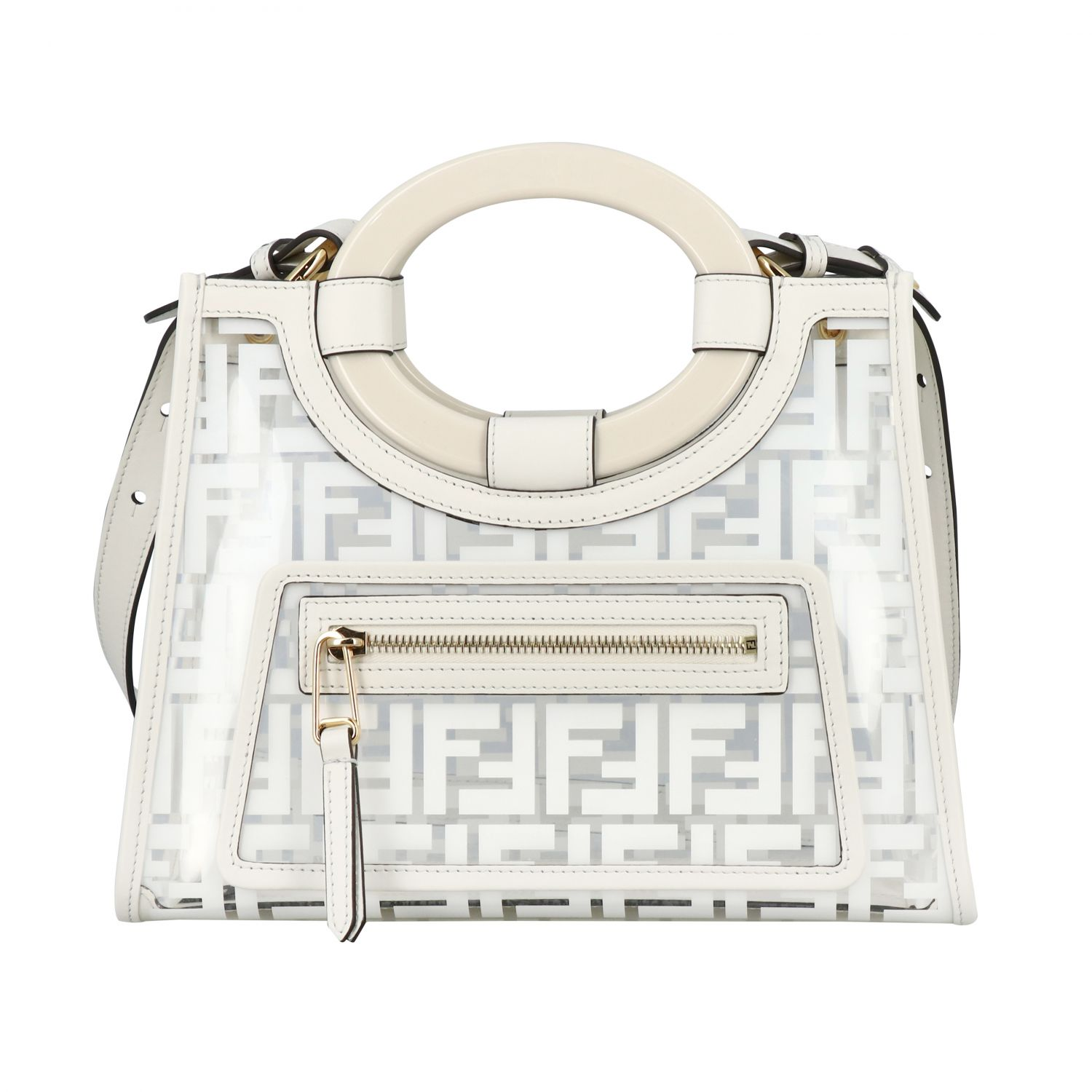 Handbag Fendi: Shoulder bag women Fendi white 1