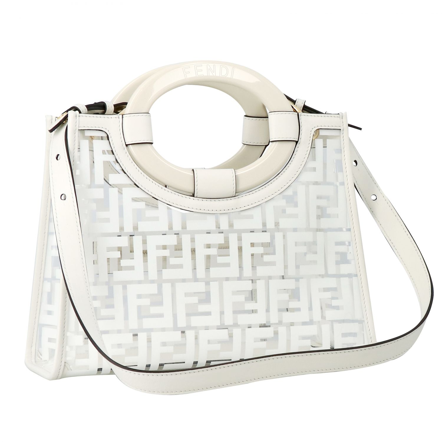 Handbag Fendi: Shoulder bag women Fendi white 2