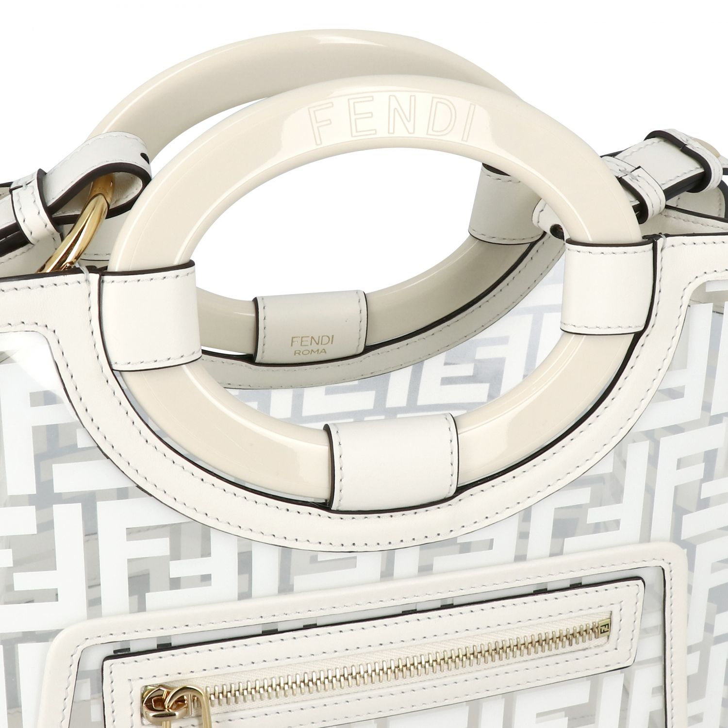 Handbag Fendi: Shoulder bag women Fendi white 3