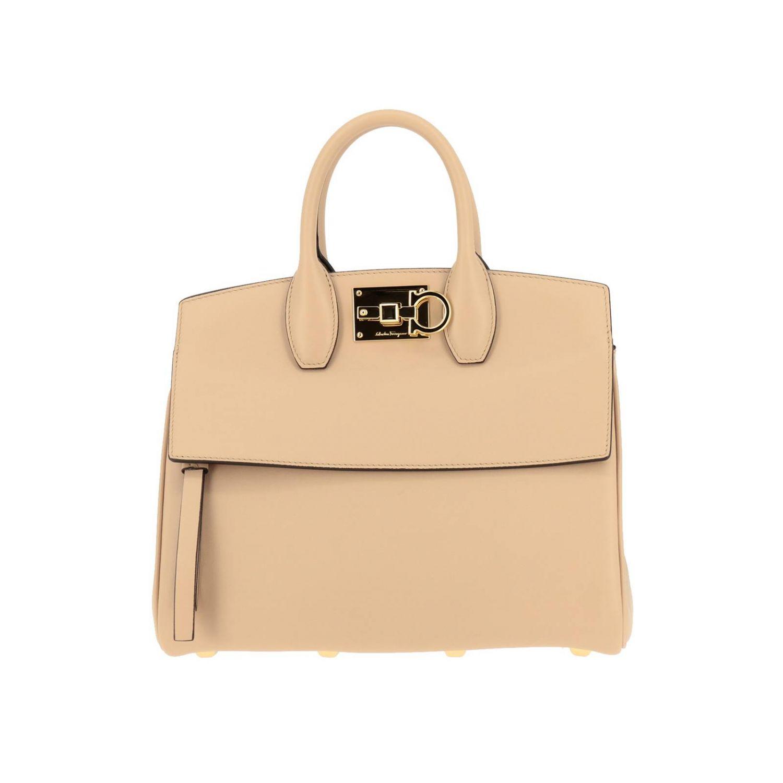 Shoulder bag women Salvatore Ferragamo beige 1