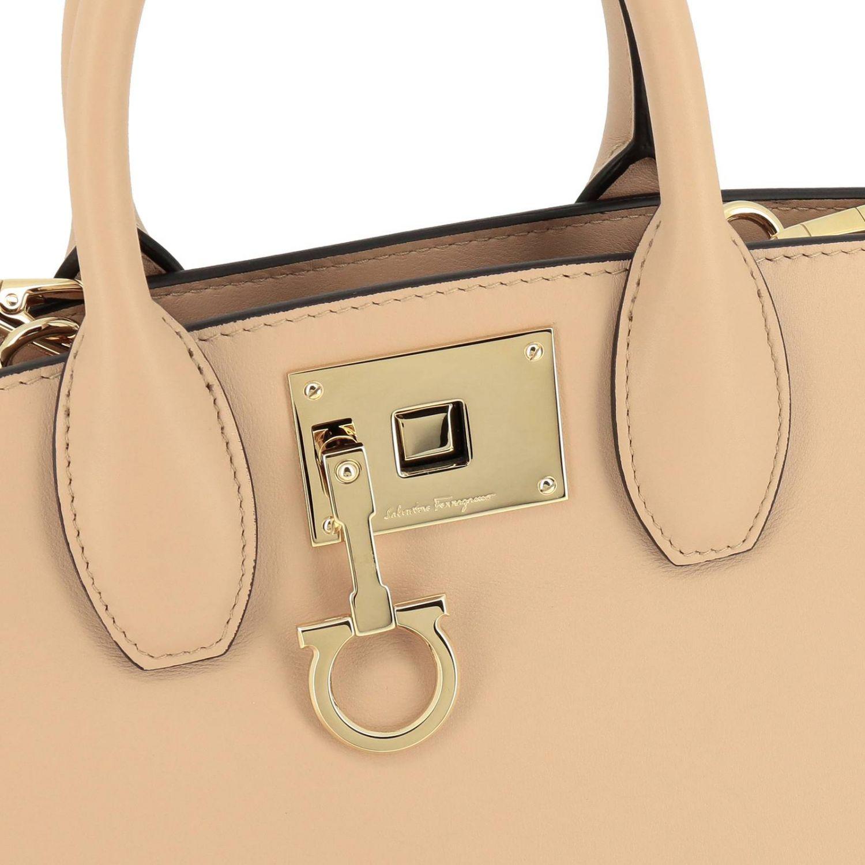 Shoulder bag women Salvatore Ferragamo beige 4