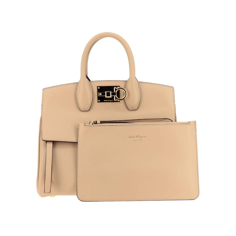 Shoulder bag women Salvatore Ferragamo beige 5