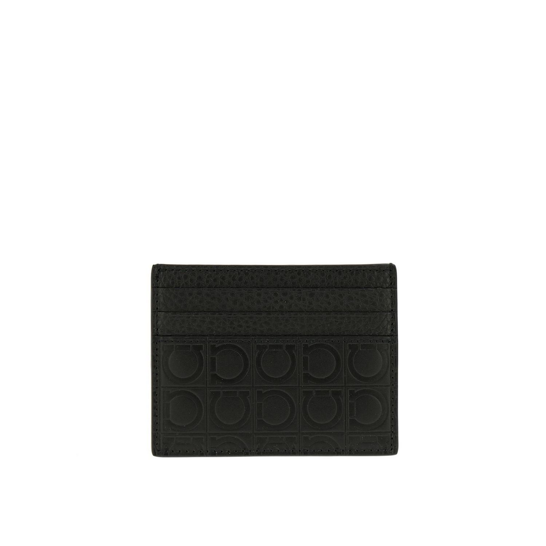 Wallet men Salvatore Ferragamo black 1