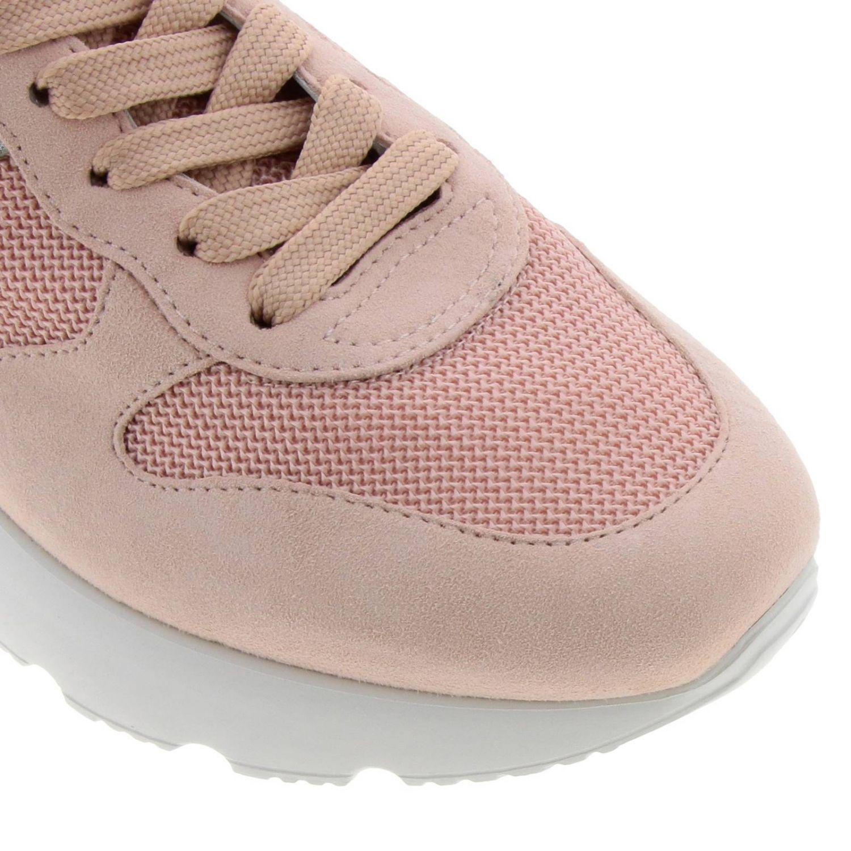 Sneakers Active one 385 in camoscio pelle e micro rete con H lunga