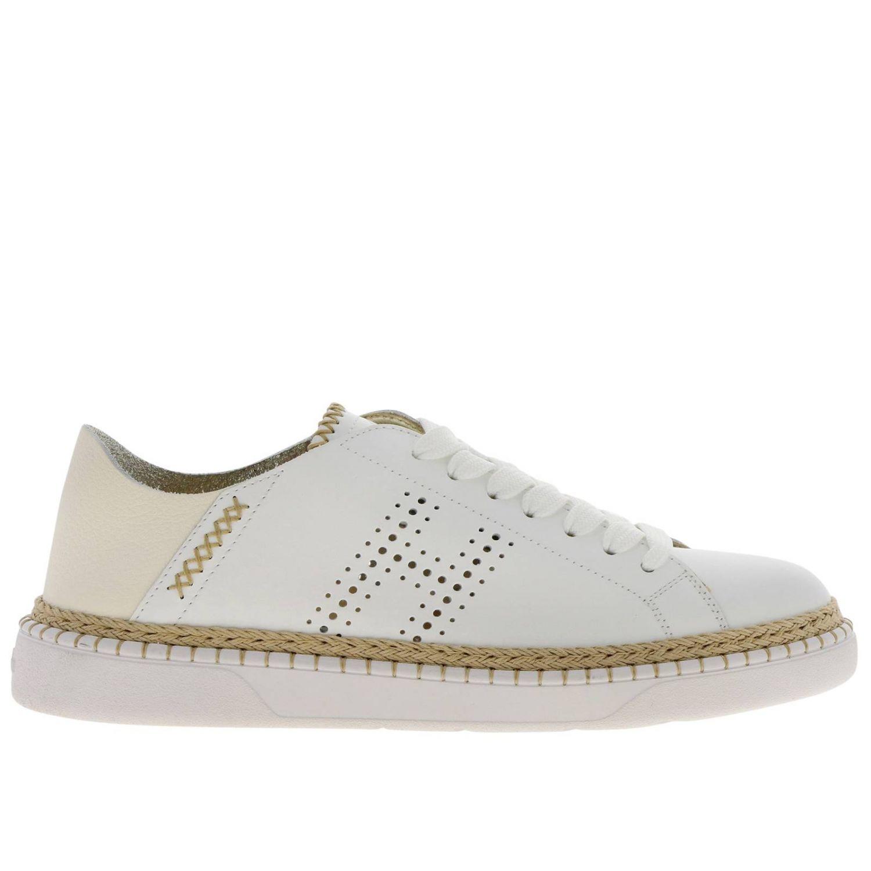 Sneakers 420 (H327 corda) Hogan in pelle liscia con tallone pieghevole