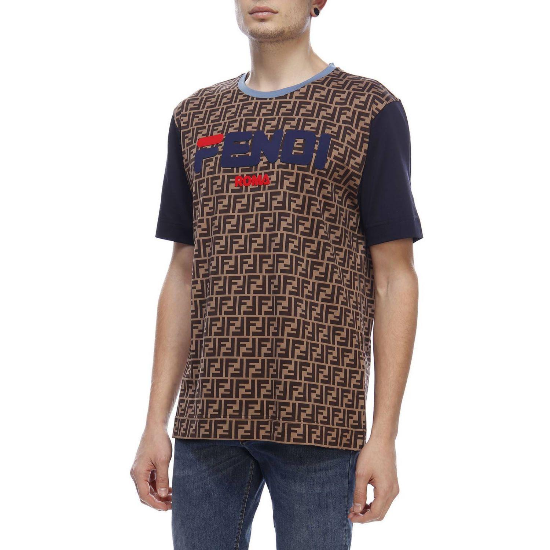 T-Shirt Fendi: T-shirt herren Fendi braun 2