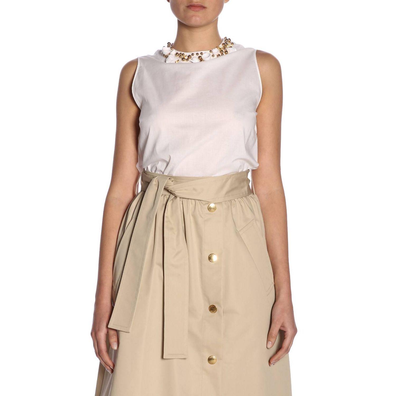 Top women Boutique Moschino white 1