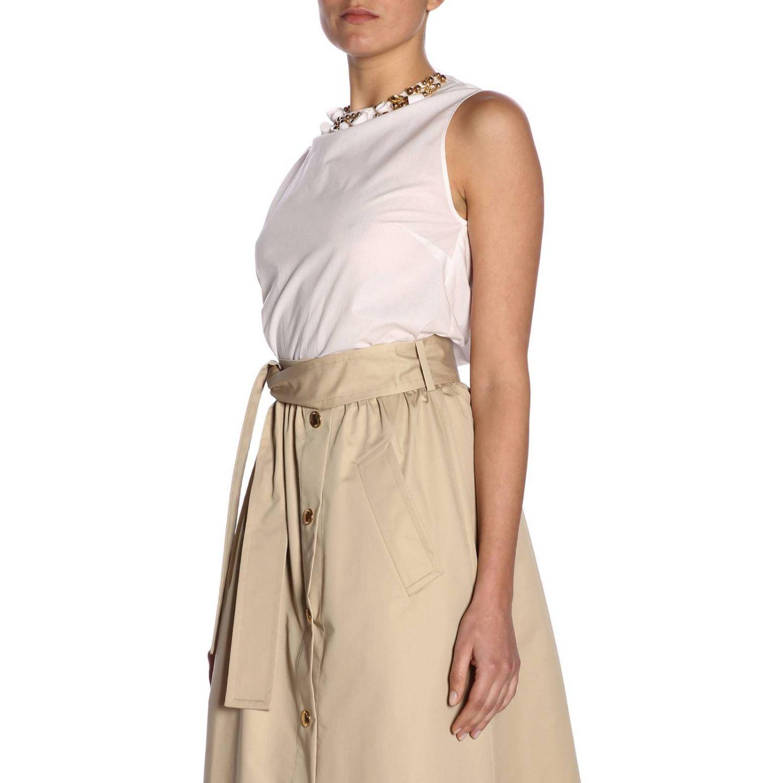 Top women Boutique Moschino white 2