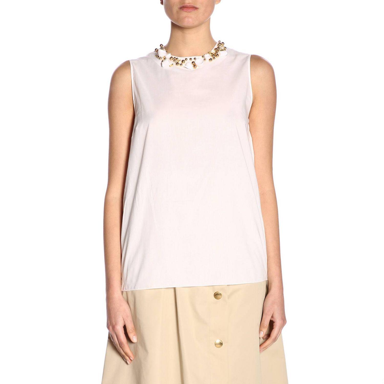 Top women Boutique Moschino white 5