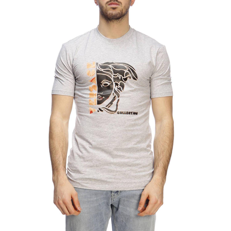 T-shirt men Versace Collection grey 1