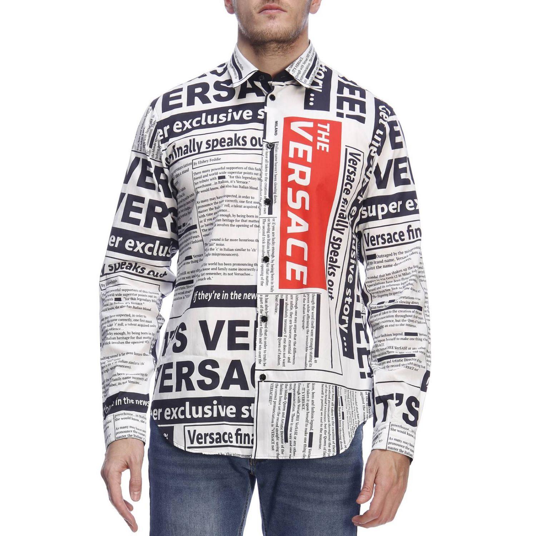 Рубашка Мужское Versace белый 1