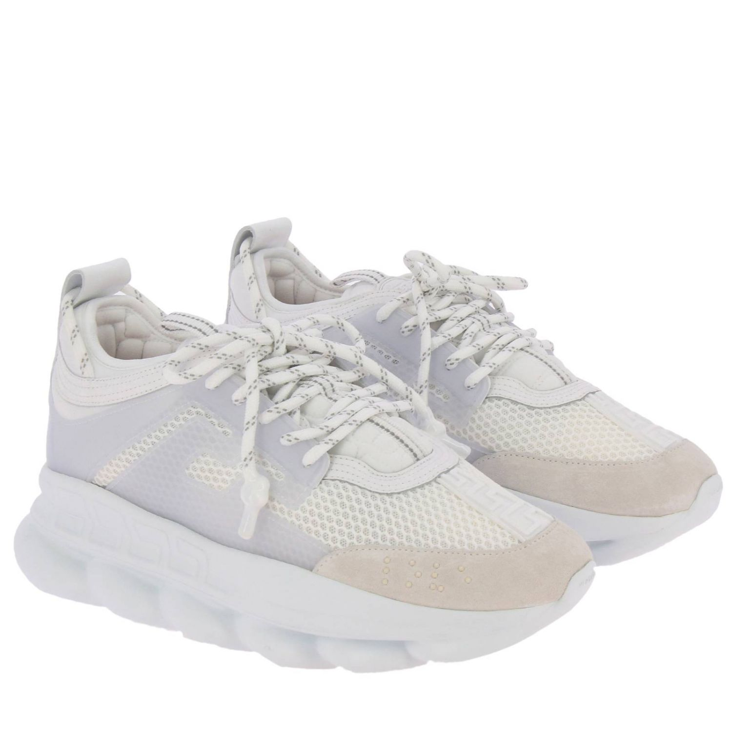 Chaussures homme Versace blanc 2