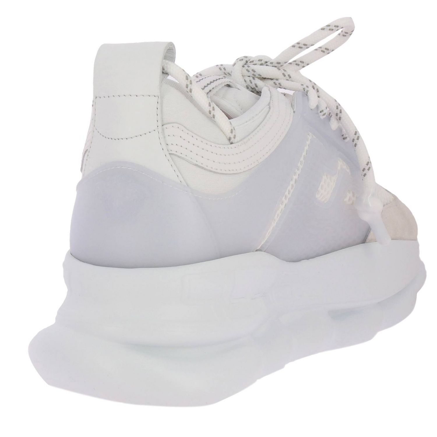 Chaussures homme Versace blanc 4
