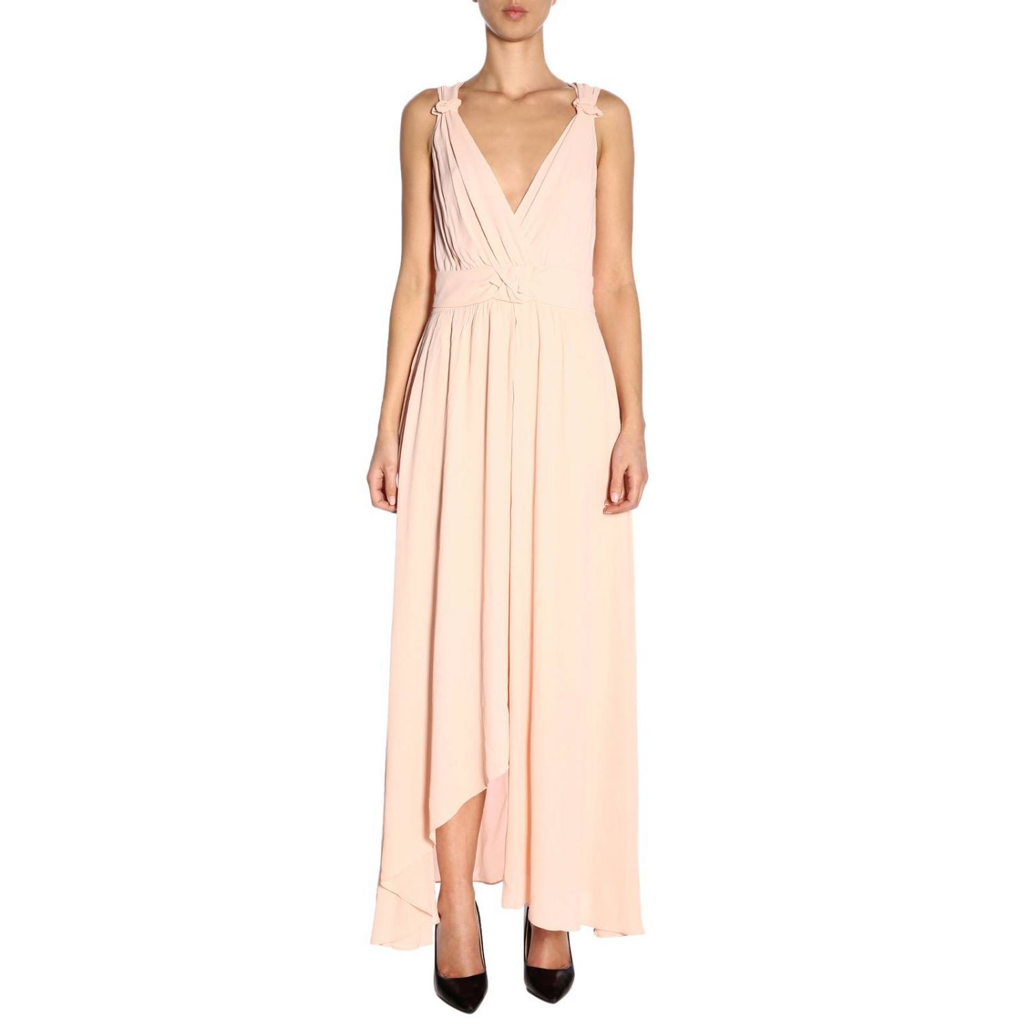 Dress Pinko: Dress women Pinko blush pink 1