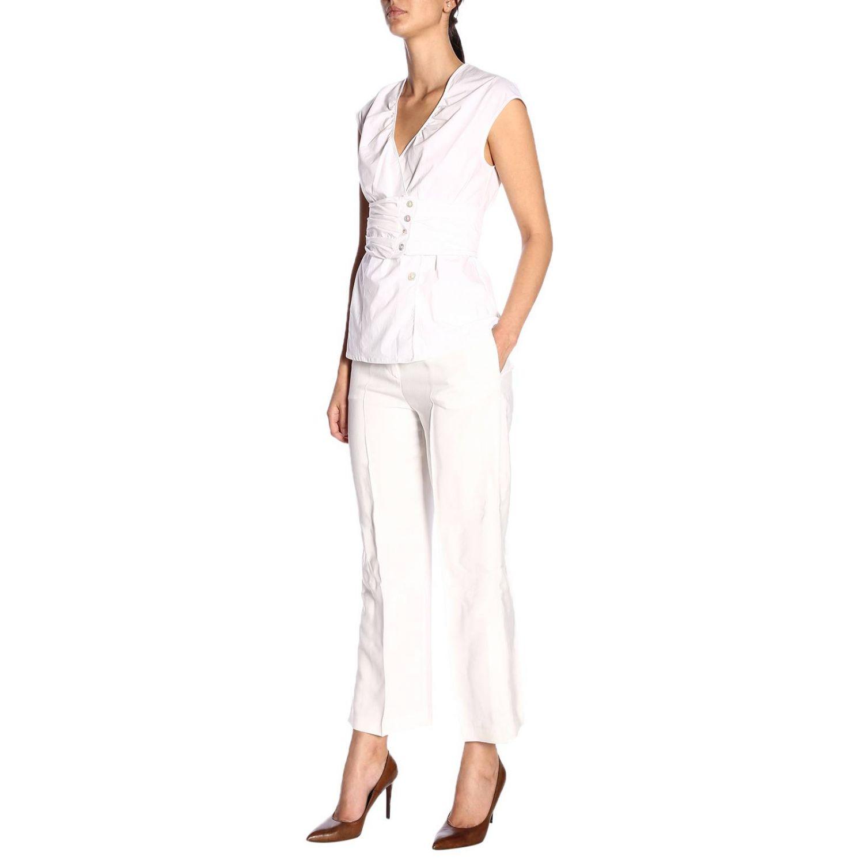 Trousers Pinko: Trousers women Pinko white 4