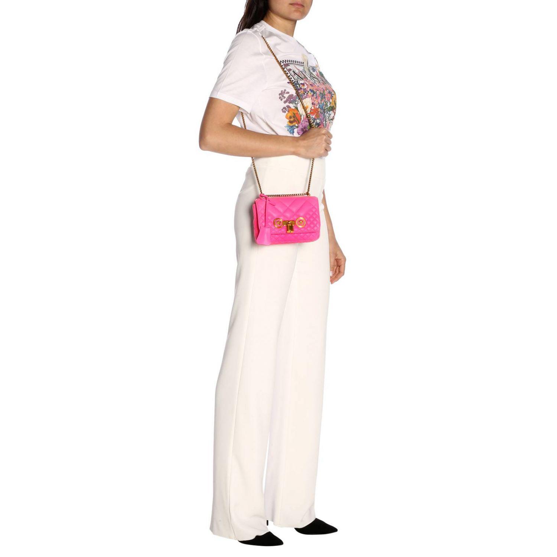 Schultertasche damen Versace fuchsia 2