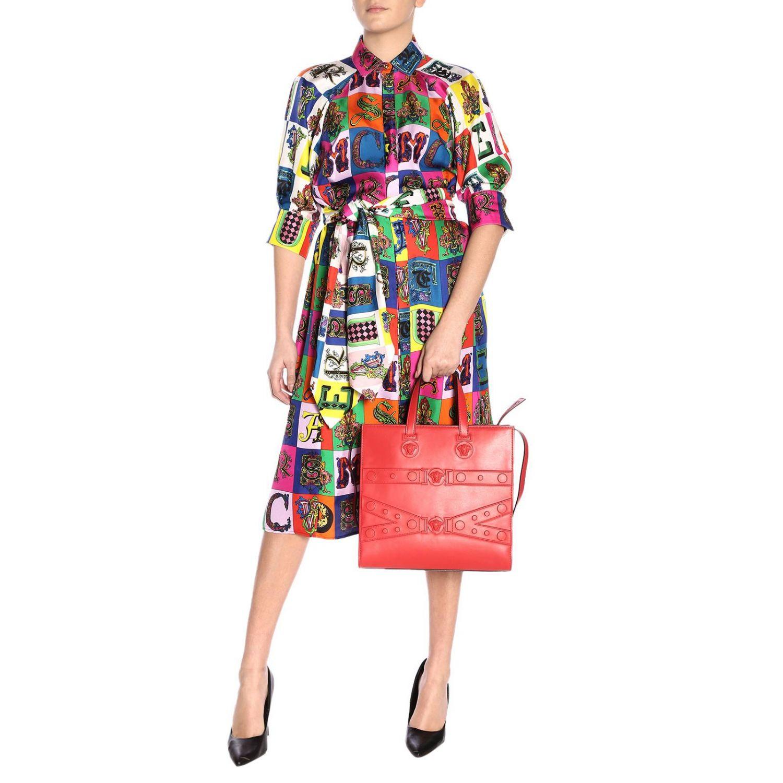 Shoulder bag women Versace red 2