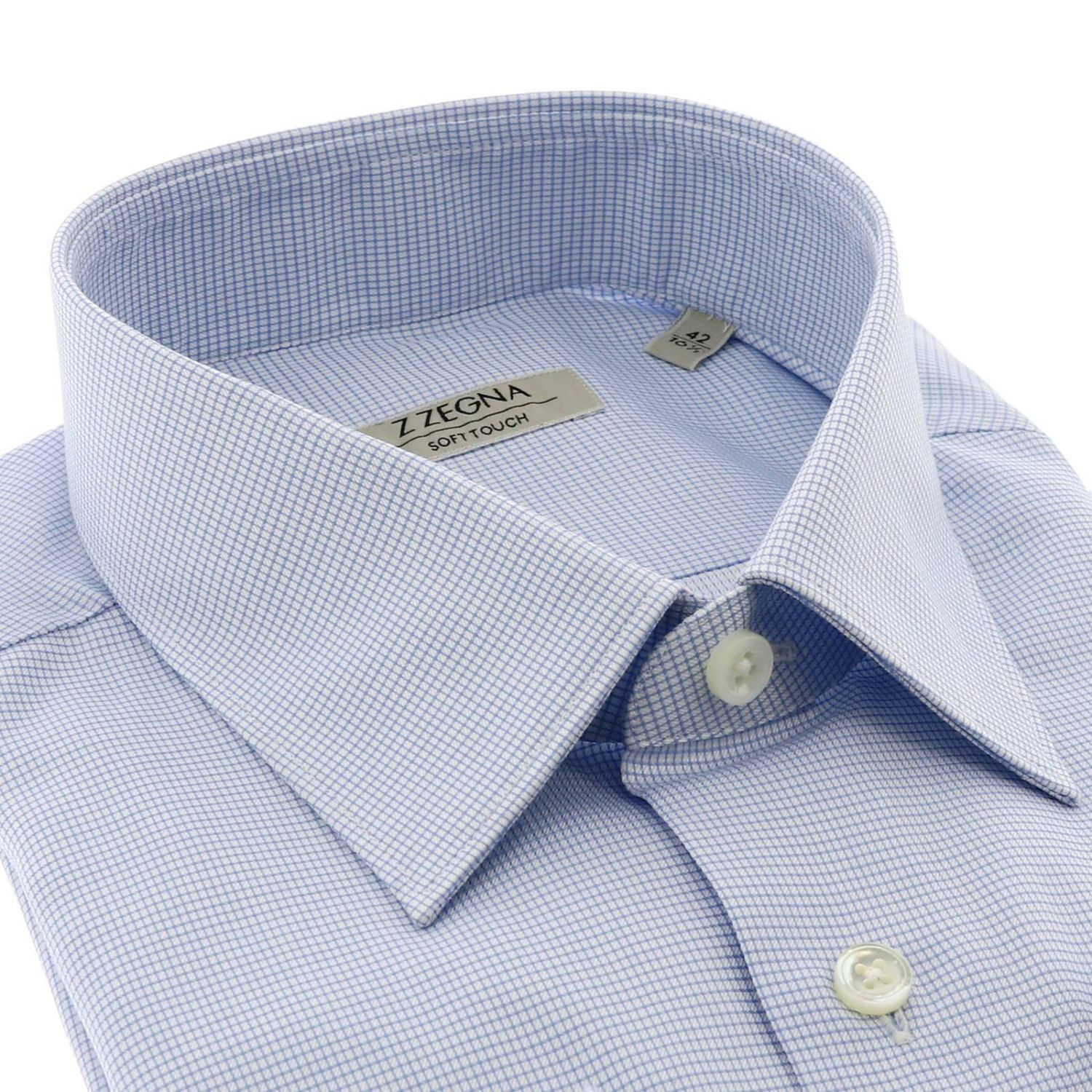 Shirt men Z Zegna gnawed blue 2