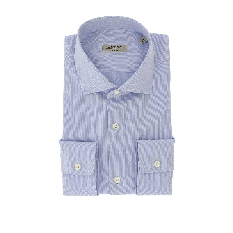 Camisa hombre Z Zegna azul claro 1