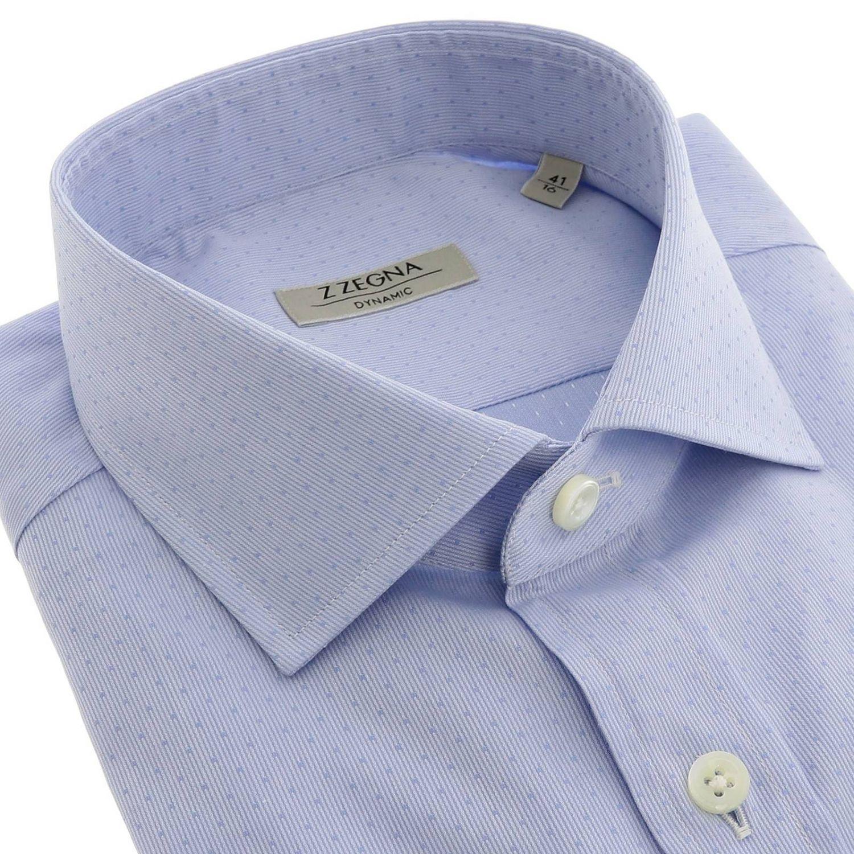 Camisa hombre Z Zegna azul claro 2