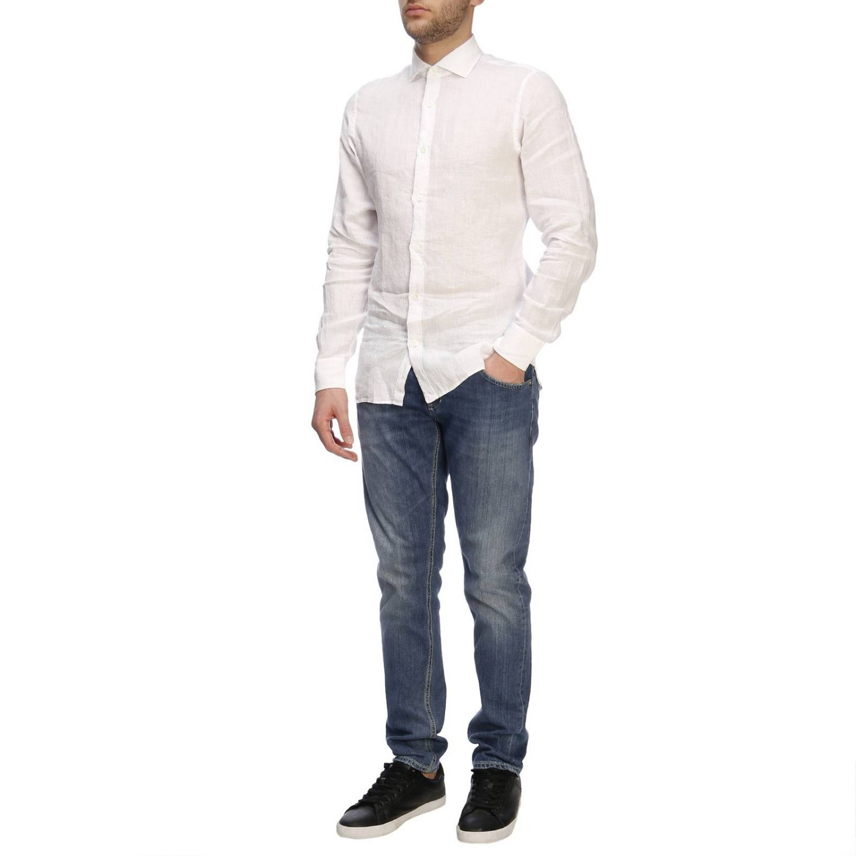 Camisa hombre Z Zegna blanco 5