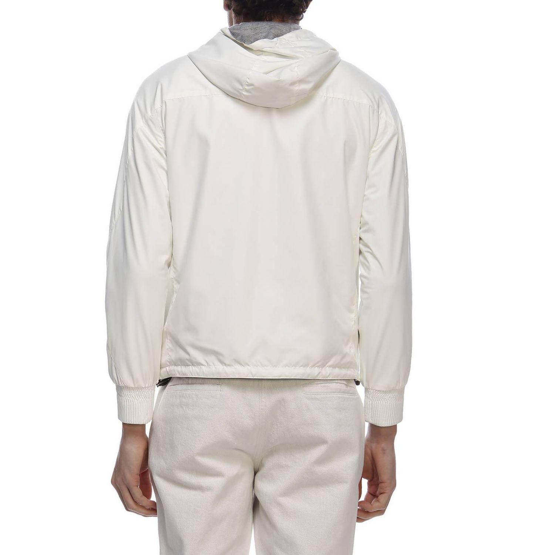 Giacca in tessuto tecnico/jersey di cachemire reversibile con zip bianco 3