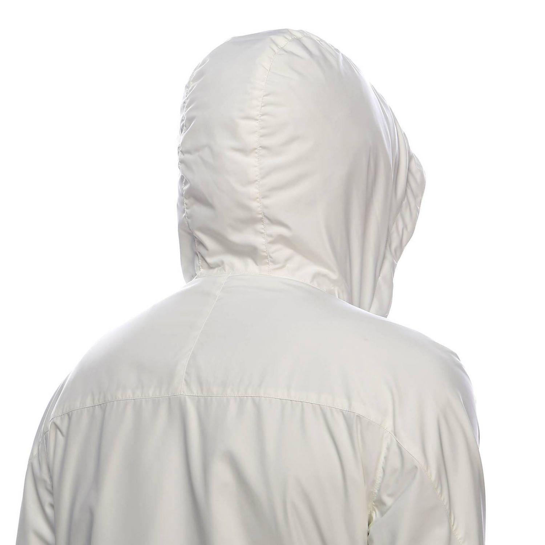 Giacca in tessuto tecnico/jersey di cachemire reversibile con zip bianco 4