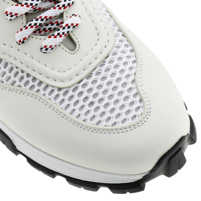 Sneakers Cesare Ermenegildo Zegna in pelle e rete con maxi suola in gomma bianco 3