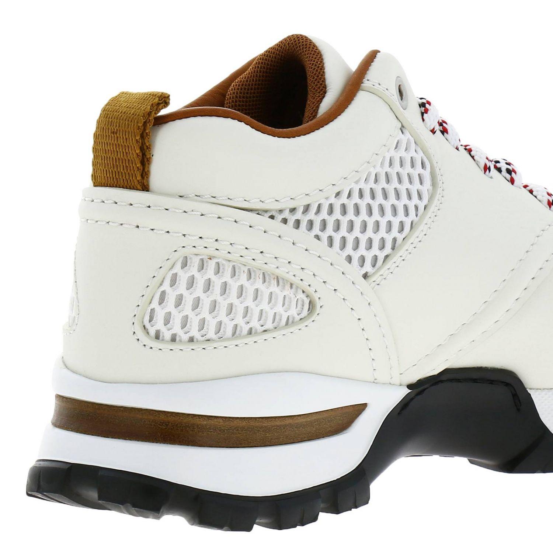 Sneakers Cesare Ermenegildo Zegna in pelle e rete con maxi suola in gomma bianco 4