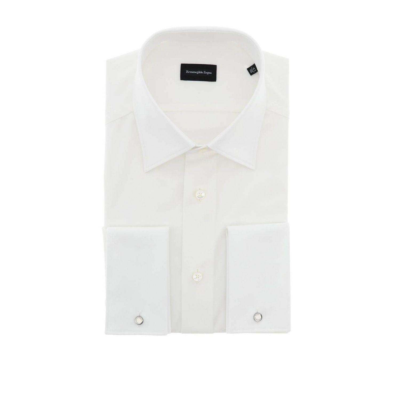 Camicia Ermenegildo Zegna Paul in cotone bianco 1
