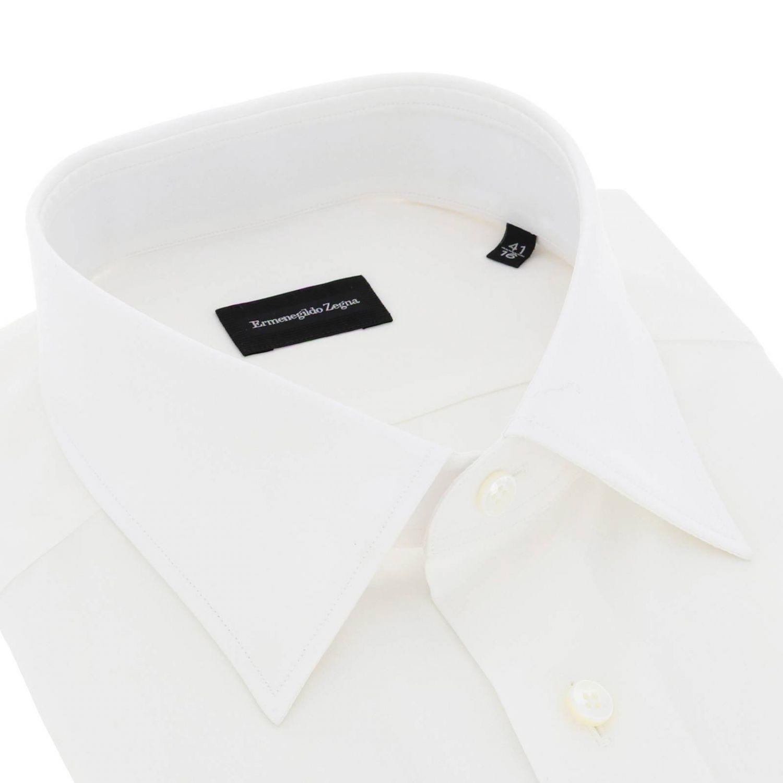 Camicia Ermenegildo Zegna Paul in cotone bianco 2