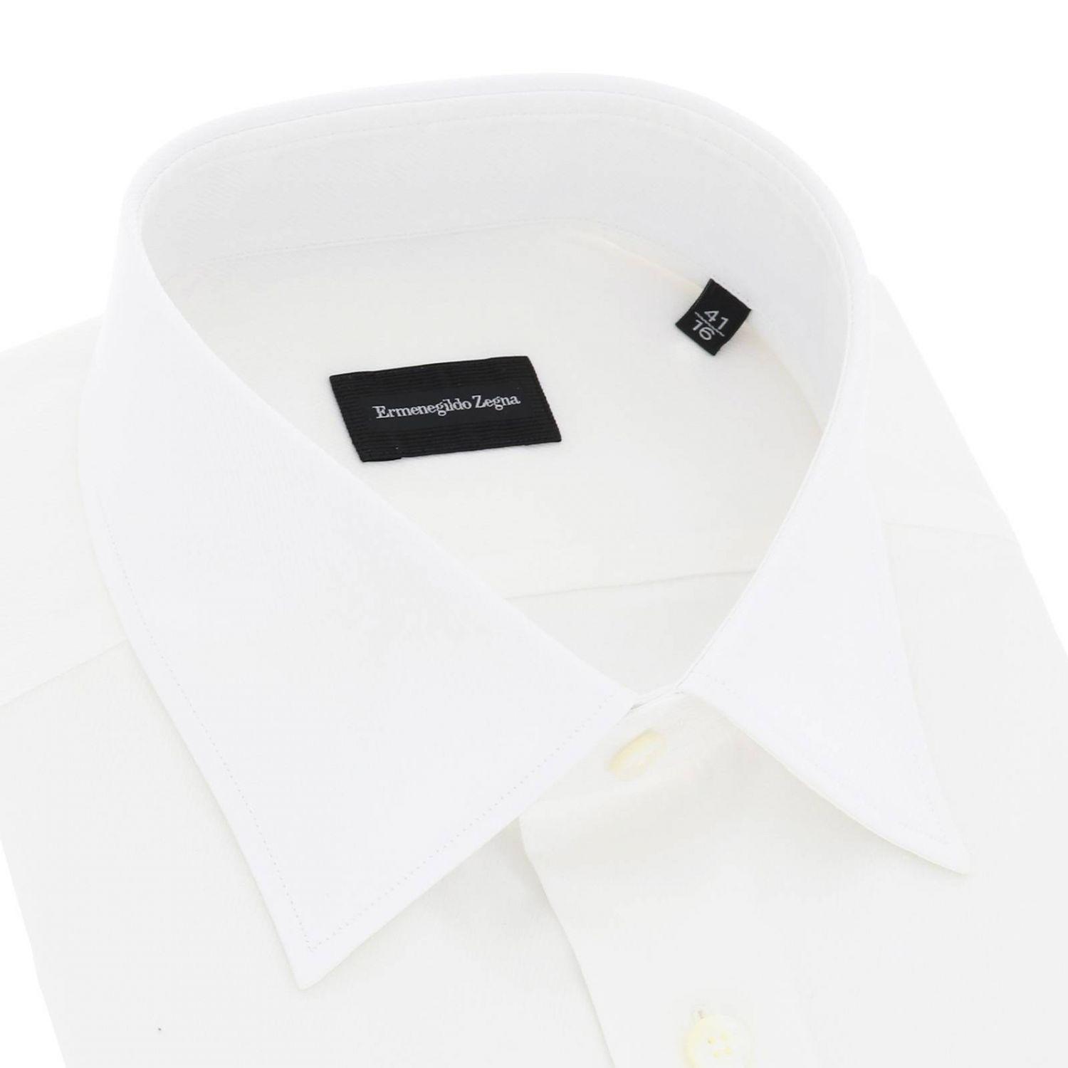 Shirt men Ermenegildo Zegna white 2