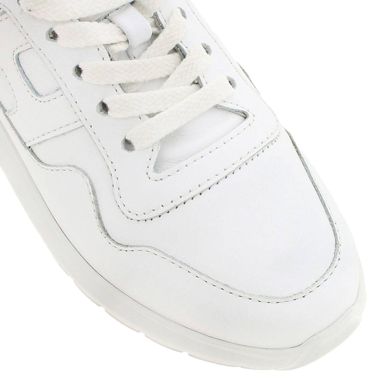 Sneakers Interactive Cube Hogan in pelle liscia bianco 3