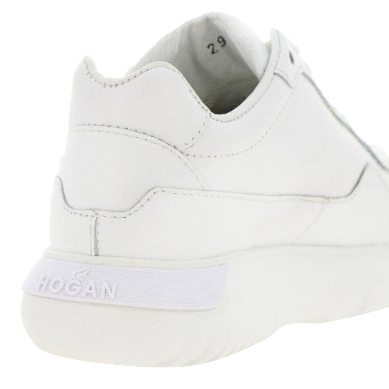 Sneakers Interactive Cube Hogan in pelle liscia bianco 4