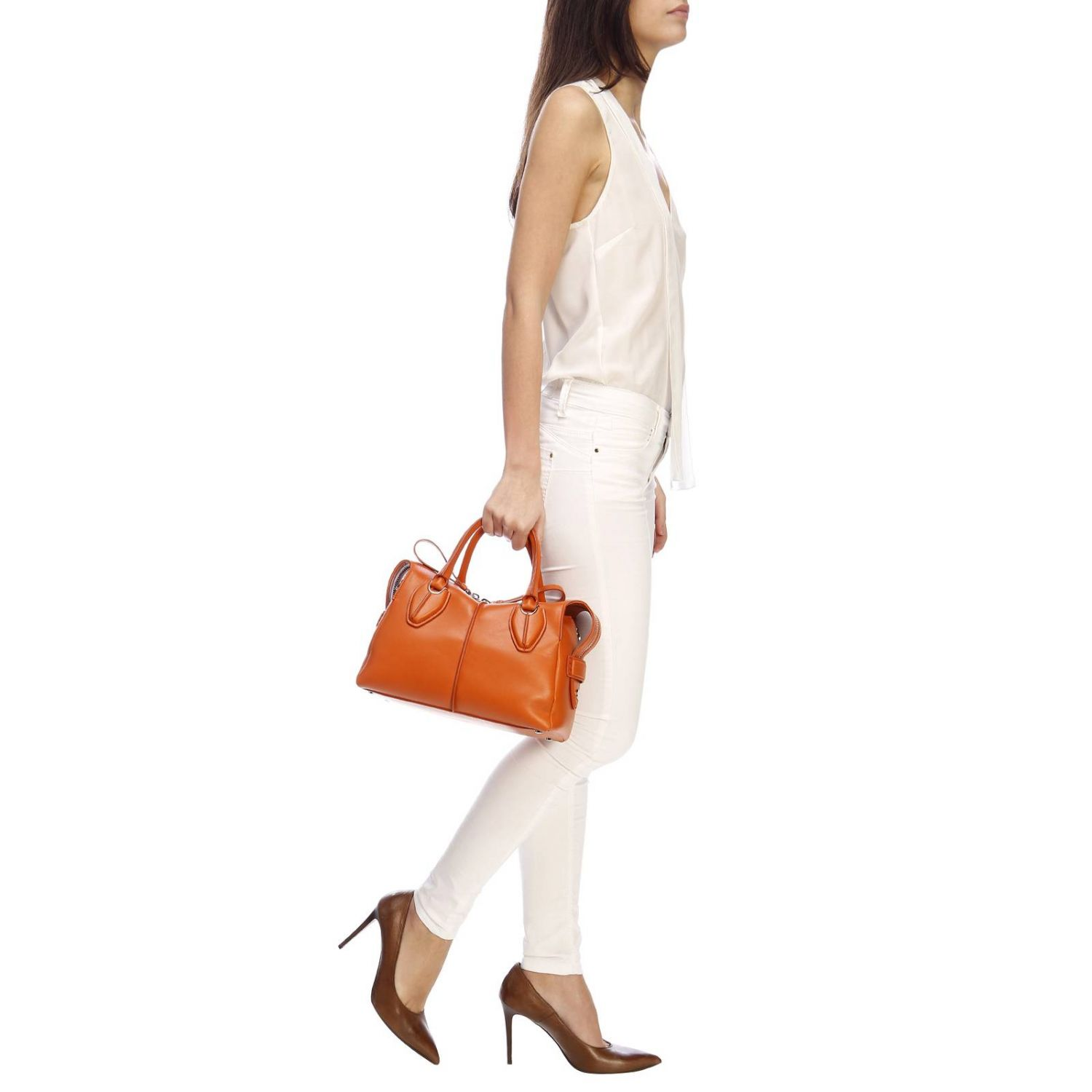 Handbag Tods: Shoulder bag women Tod's orange 2