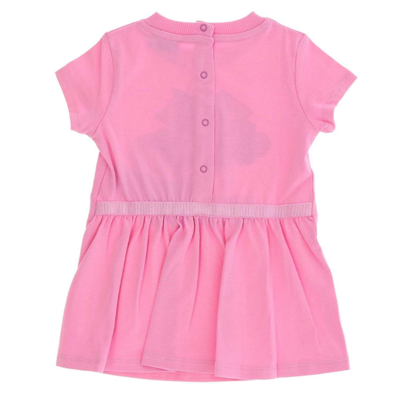 Abito a maniche corte con maxi stampa teddy by Moschino rosa 2