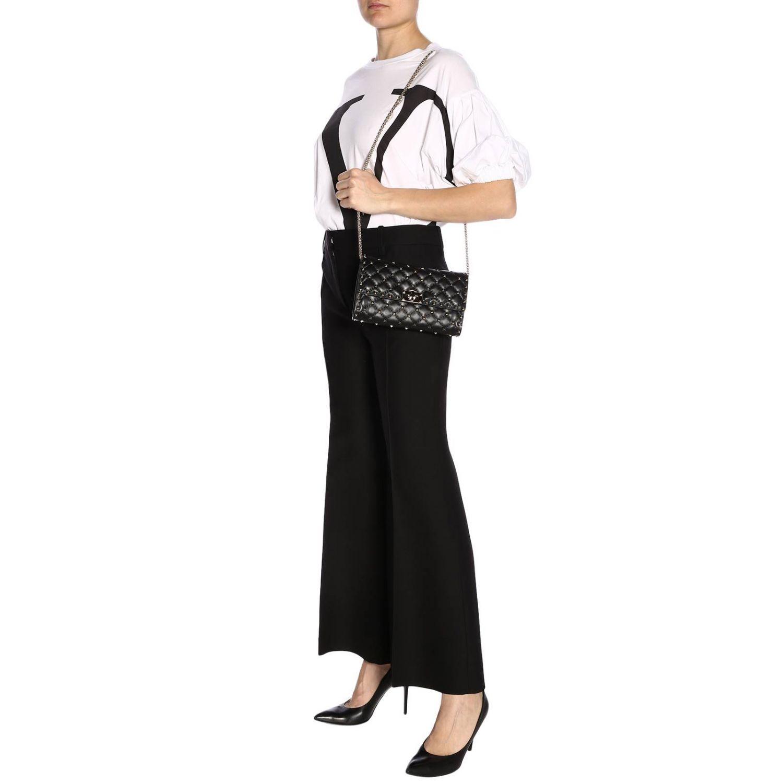 Pantalone Valentino flair a vita regolare con tasche america nero 4