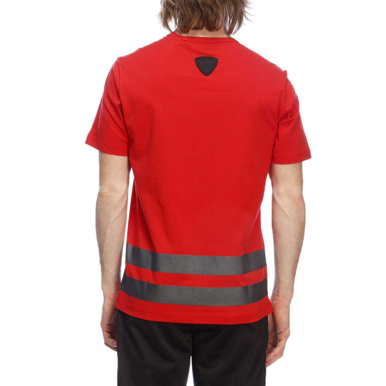 T-shirt a maniche corte con maxi stampa catarifrangente by Rossignol rosso 3