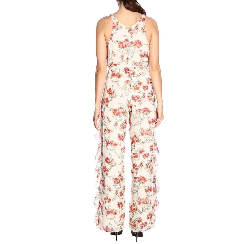 Tuta Patrizia Pepe senza maniche con rouches e fantasia floreale bianco 3