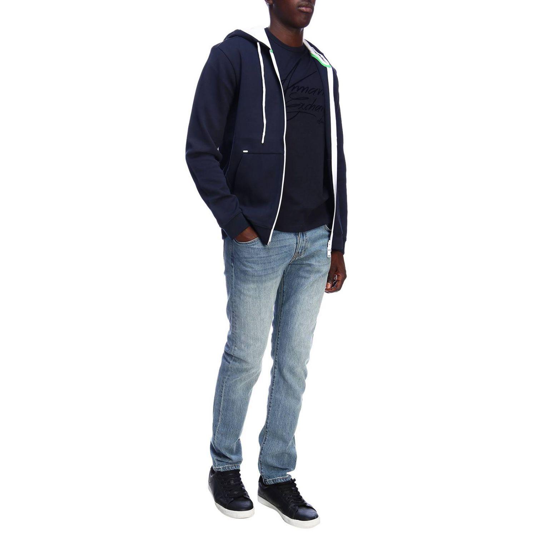 Jersey hombre Armani Exchange azul marino 5