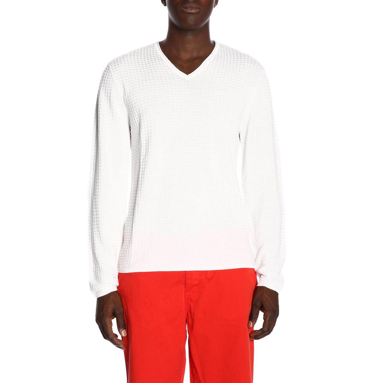 Pull homme Armani Exchange blanc 1